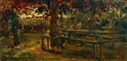 """Max Liebermann """"Biergarten in Etzenhausen"""" 26 x 13 cm"""