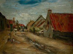 """Max Liebermann """"Dorfstraße in Holland"""" 35 x 26 cm"""