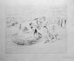 """Max Liebermann """"Am Strande"""" 24 x 19 cm"""
