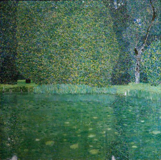 """Gustav Klimt """"Schlossteich in Kammer am Attersee"""" 110 x 110 cm 1"""