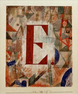 "Paul Klee ""E"" 18 x 22 cm"