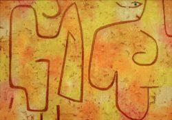 """Paul Klee """"Dame und Mode"""" 100 x 70 cm"""
