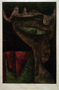 """Paul Klee """"Daemonisches Fräulein"""" 31 x 46 cm"""