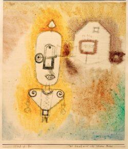 """Paul Klee """"Der Schutzmann vor seinem Haus"""" 18 x 20 cm"""