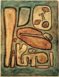 "Paul Klee ""Angstausbruch III"" 48 x 64 cm"