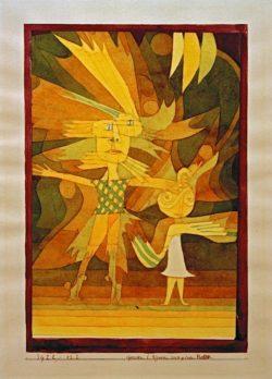 """Paul Klee """"Genien"""" 16 x 24 cm"""