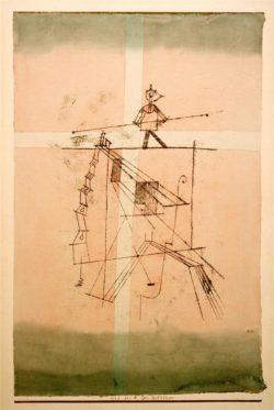 """Paul Klee """"Der Seiltänzer"""" 32 x 49 cm"""