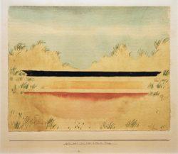 """Paul Klee """"Das Meer hinter den Dünen"""" 30 x 24 cm"""