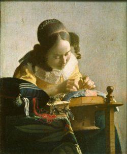 "Jan Vermeer ""Die Spitzenklöpplerin"" 21 x 24 cm"
