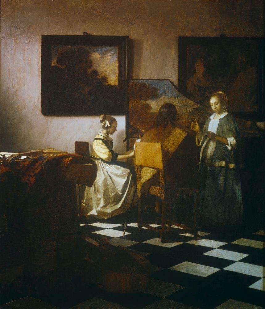 """Jan Vermeer """"Das Konzert"""" 63 x 69 cm"""