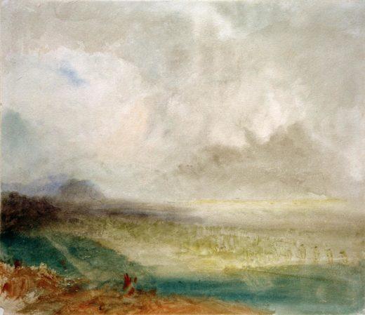 """William Turner """"Das Rhônetal bei Sion"""" 23 x 27 cm 1"""
