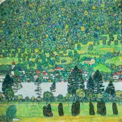 """Gustav Klimt """"Waldabhang in Unterach am Attersee"""" 110 x 110 cm"""