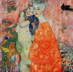 """Gustav Klimt """"Freundinnen"""" 99 x 99 cm"""