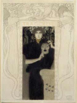 "Gustav Klimt ""Die Tragödie"" 31 x 42 cm"