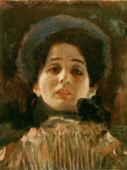 """Gustav Klimt """"Portrait en face"""" 34 x 45 cm"""