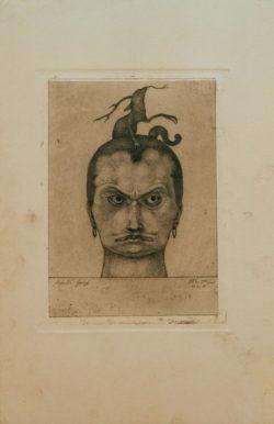 """Paul Klee """"Drohendes Haupt"""" 15 x 20 cm"""