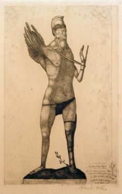 """Paul Klee """"Der Held mit dem Flügel"""" 16 x 26 cm"""