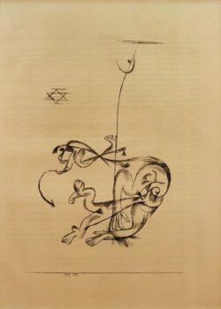 """Paul Klee """"Der schreckliche Traum"""" 14 x 20 cm"""