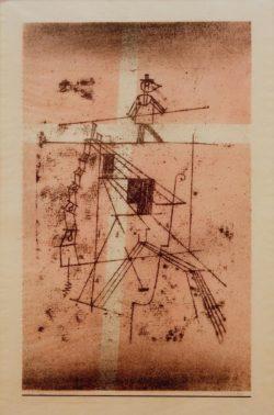 """Paul Klee """"Der Seiltänzer"""" 28 x 44 cm"""