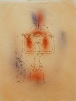 """Paul Klee """"Die Sängerin der komischen Oper"""" 29 x 42 cm"""