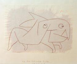 """Paul Klee """"Ein Tier bald wieder heiter"""" 42 x 29 cm"""