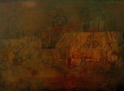 "Paul Klee ""Alter Friedhof"" 48 x 37 cm"