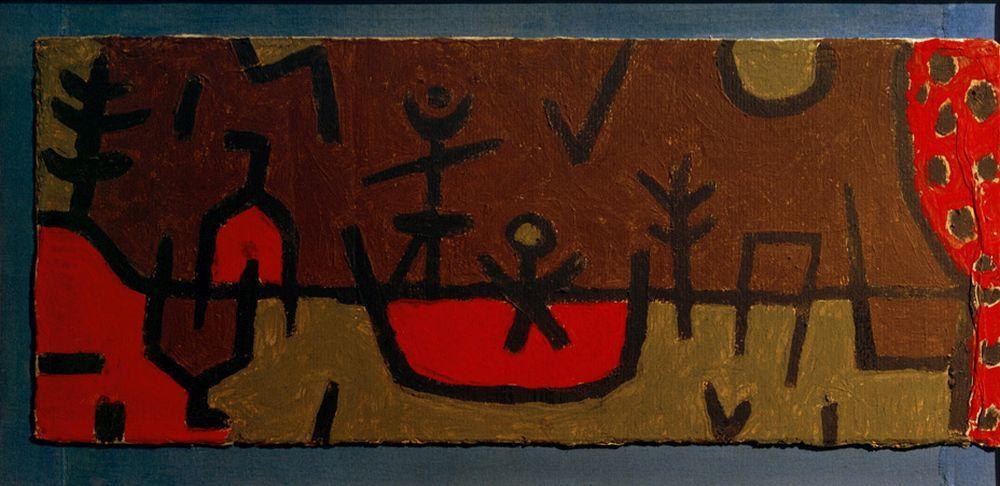 "Paul Klee ""Teich im Park"" 50 x 21 cm"