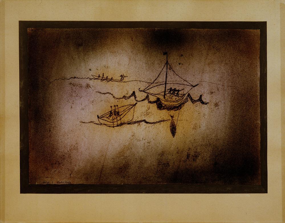 """Paul Klee """"Fischerboote"""" 49 x 34 cm"""
