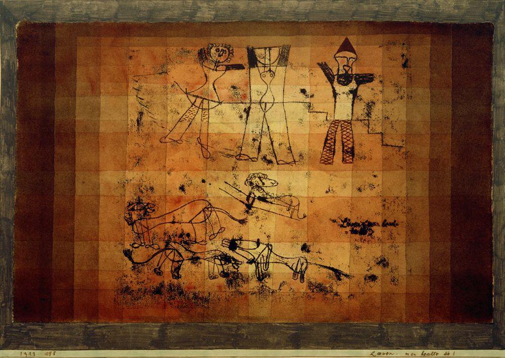"""Paul Klee """"Löwen, man beachte sie!"""" 51 x 36 cm"""