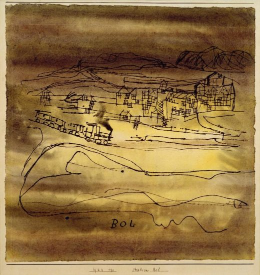 "Paul Klee ""Station Bol"" 30 x 31 cm 1"