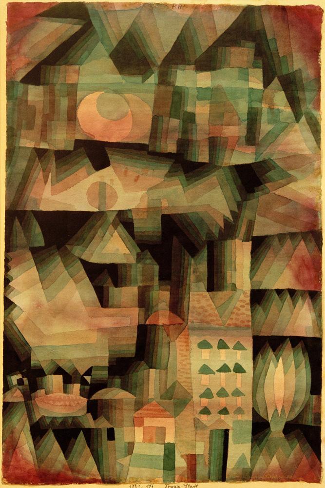 "Paul Klee ""Traum-Stadt"" 31 x 48 cm"