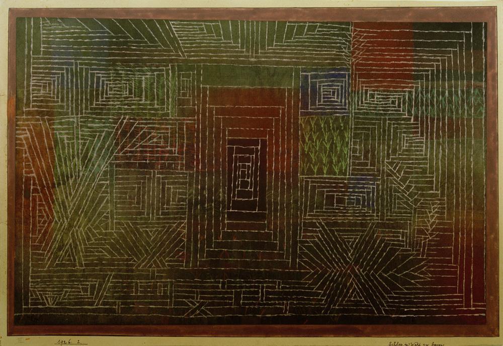 """Paul Klee """"Schloss im Wald zu bauen"""" 38 x 25 cm"""