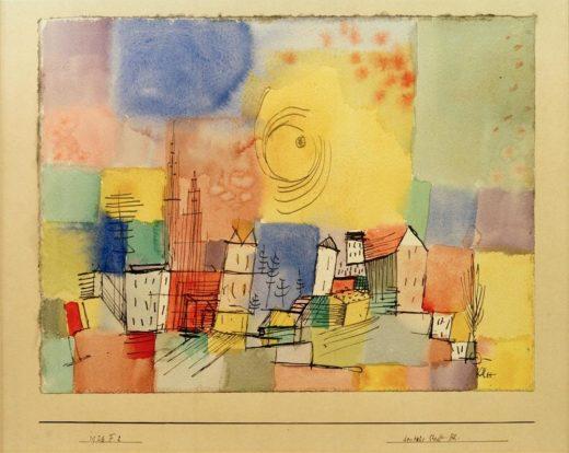 """Paul Klee """"Deutsche Stadt BR"""" 29 x 23 cm 1"""