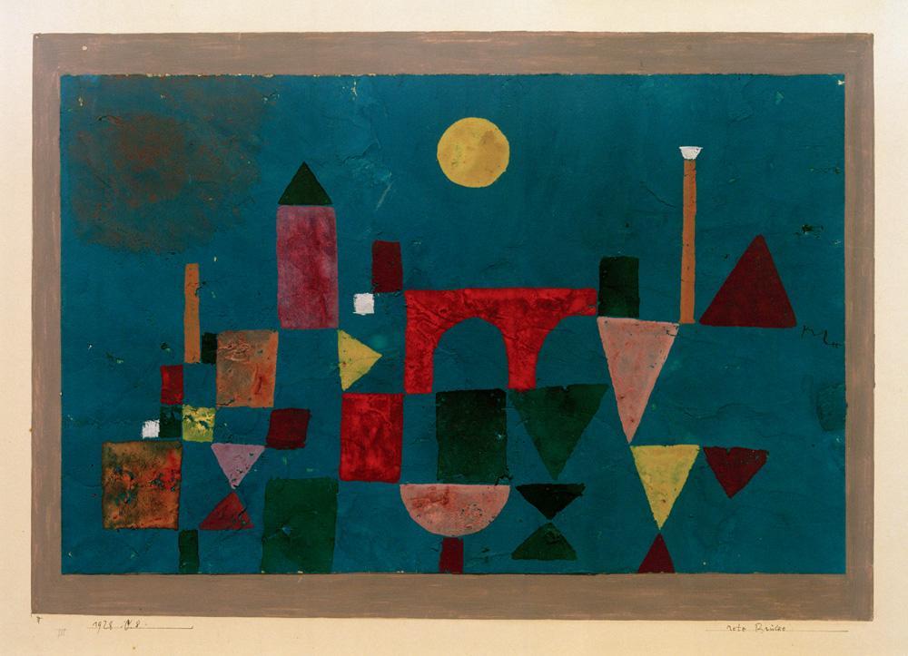 """Paul Klee """"Rote Brücke"""" 33 x 21 cm"""