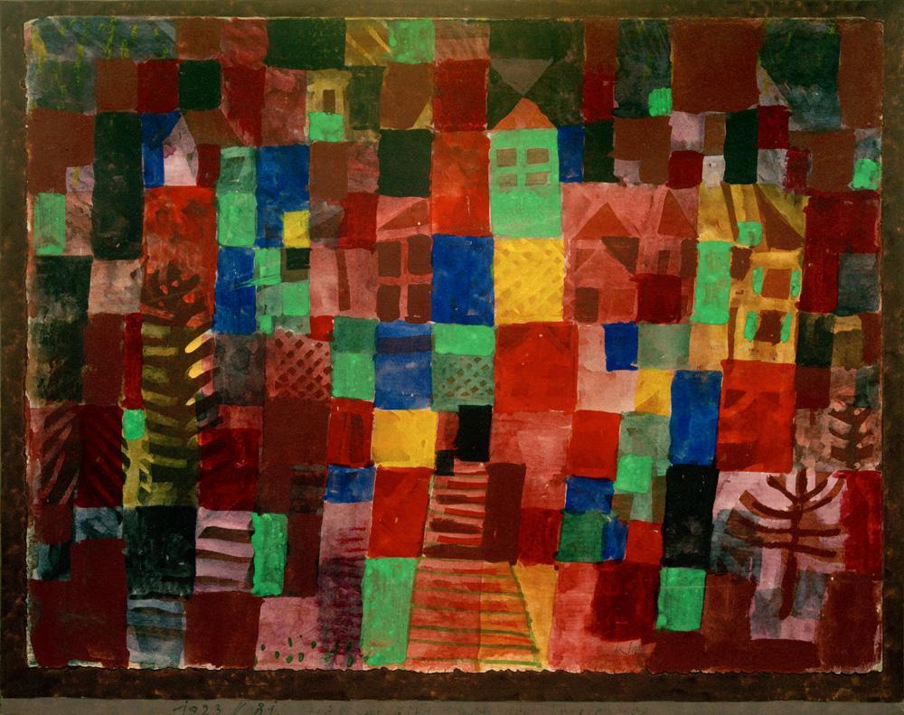 """Paul Klee """"Häuser mit Treppenweg"""" 33 x 27 cm"""