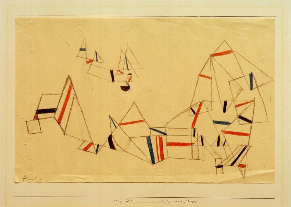"Paul Klee ""Schiffe nach dem Sturm"" 33 x 21 cm"