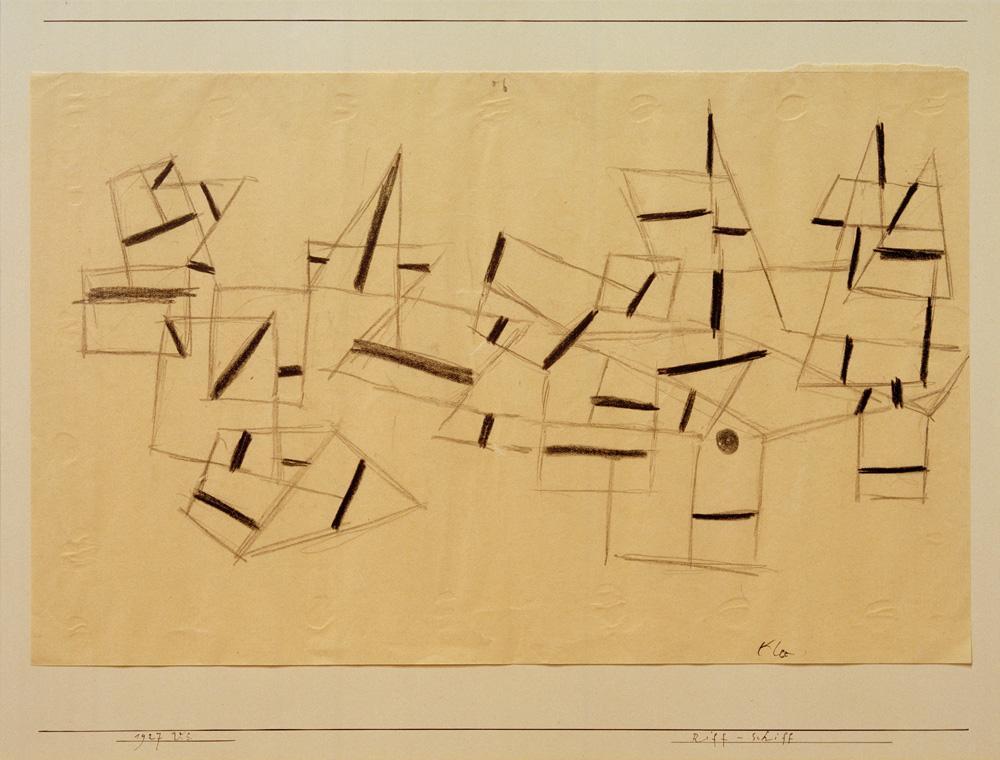 "Paul Klee ""Riff-Schiff"" 33 x 21 cm"