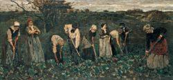 """Max Liebermann """"Arbeiter im Rübenfelde"""" 209 x 99 cm"""