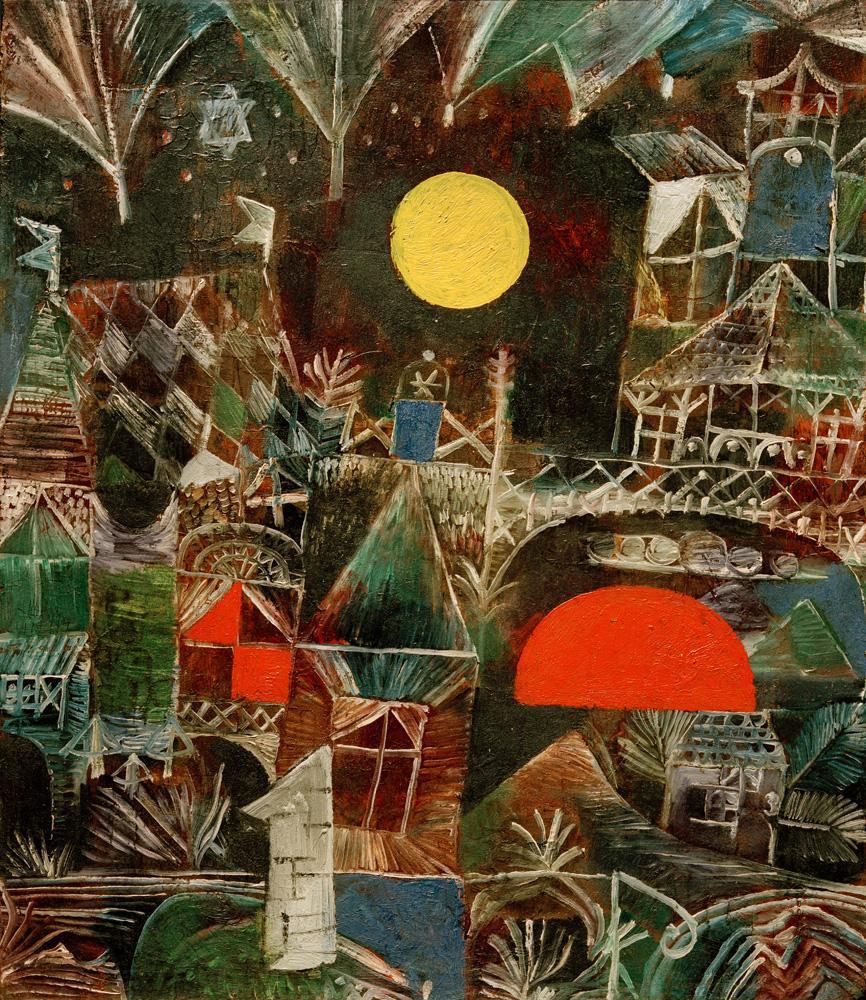 "Paul Klee ""Mondaufgang Sonnenuntergang"" 35 x 41 cm"